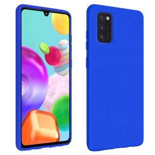 Halbsteife Silikon Handyhülle Samsung Galaxy A41, Soft Touch - Blau