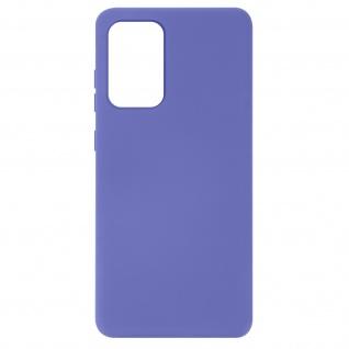 Halbsteife Silikon Handyhülle für Samsung Galaxy A72, Soft Touch ? Violett