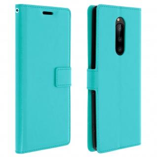 Flip Stand Cover Brieftasche & Standfunktion für Sony Xperia 1 - Türkisblau