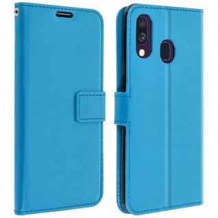 Flip Stand Cover Brieftasche & Standfunktion für Samsung Galaxy A40 - Türkisblau