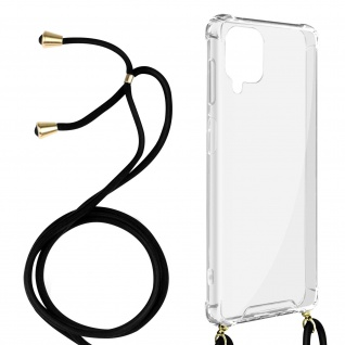 Handykette Handyhülle mit Halsband für Samsung Galaxy A12 ? Transparent