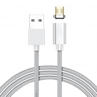 Magnetisches USB-Ladekabel + 2x magnetische Micro-USB Adapter - Weiß