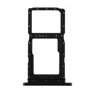 1x SIM + 1x Micro-SD Kartenhalter Ersatzteil für Honor 10 Lite ? Schwarz