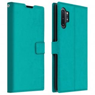 Flip Cover Stand Case Brieftasche & Standfunktion für Galaxy Note 10 Plus - Blau