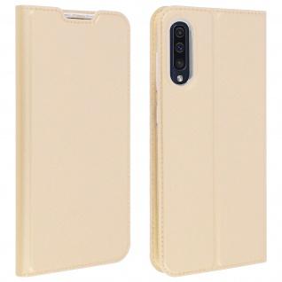 Klappetui mit Kartenfach & Standfunktion Samsung Galaxy A50 Gold