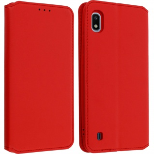 Kunstleder Cover Classic Edition Samsung Galaxy A10 - Rot