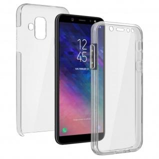 Schutzhülle für Samsung Galaxy A6, Vorder- + Rückseite ? Transparent