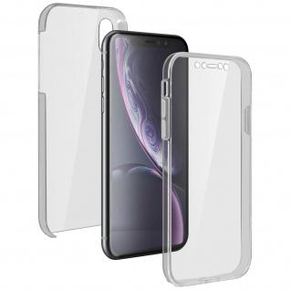 Schutzhülle für Apple iPhone XR, Vorder- + Rückseite ? Transparent