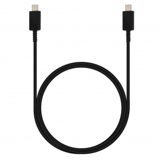 Original Samsung 100W USB-C auf USB-C Ladekabel Datenkabel 1m Schwarz