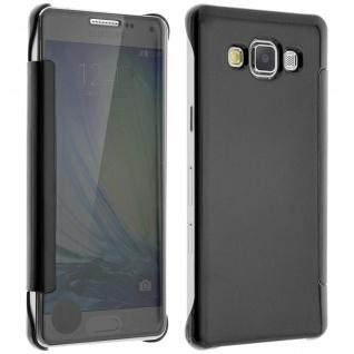 Schwarze Clear View Schutzhülle für Samsung Galaxy A5