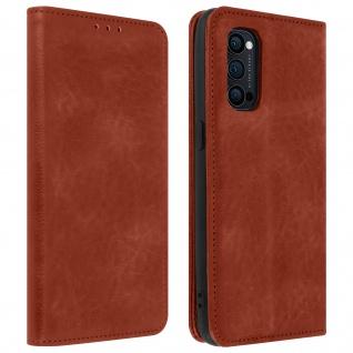 Flip Stand Case Brieftasche & Standfunktion für Oppo Reno 4 Pro 5G ? Braun