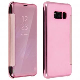 Rosafarbene Clear View Schutzhülle für Samsung Galaxy S8