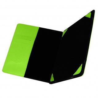 Universal 7 Zoll Tablet Hülle mit Fächern & Standfunktion, Blun - Grün