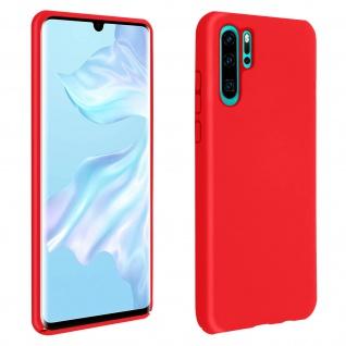 Halbsteife Silikon Handyhülle Huawei P30 Pro, Soft Touch - Rot