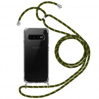 Handykette Handyhülle mit Halsband für Samsung Galaxy S10e - Grün