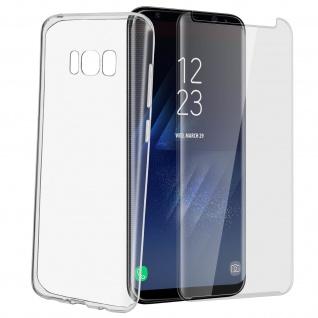 Samsung Galaxy S8 Rundumschutz - transparente Hülle + Glas-Displayschutzfolie