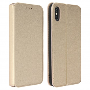 Flip Kunstleder Cover Geldbörse Classic Edition Apple iPhone XS Max - Gold