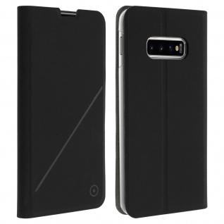 Muvit Flip Wallet Cover, Handyhülle für Samsung Galaxy S10 Plus - Schwarz
