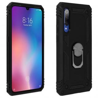 Hybrid Handyhülle mit Ring Halterung für Xiaomi Mi 9 - Schwarz