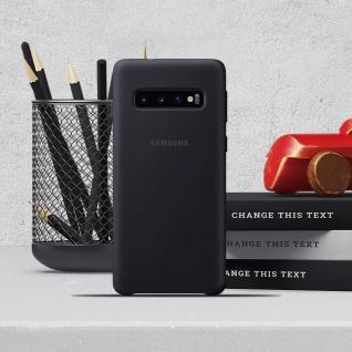 Original Samsung Soft Touch Cover Silikon für Samsung Galaxy S10 - Schwarz - Vorschau 5