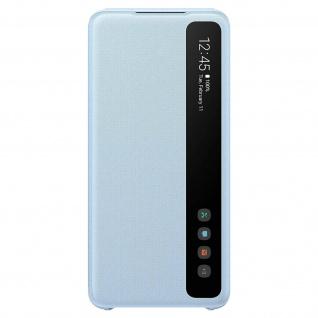 Original Samsung Clear View Cover, Klapphülle für Galaxy S20 Plus - Hellblau - Vorschau 2
