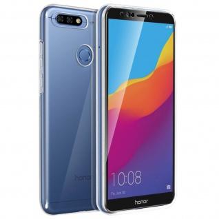 Schutzhülle für Vorder- und Rückseite für Honor 7C, Huawei Y7 2018 ? Transparent