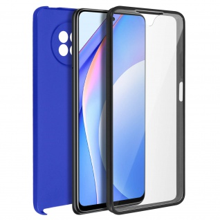 Schutzhülle für Xiaomi Mi 10T Lite, Vorder- + Rückseite ? Blau