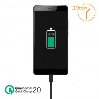 USB 2.0 Micro-USB Ladekabel, Quick Charge Aufladen & Sync. 1.2 m ? Schwarz - Vorschau 5