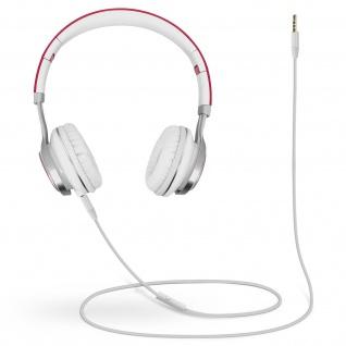 Audio Headset mit 3.5mm Klinkenstecker, EP16 Kopfhörer - Weiß / Fuchsia