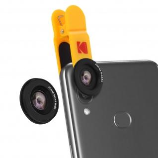 Kodak 2-in-1 Objektiv-Kit Weitwinkel 100° + Makro 15x, Front- und Rückkamera