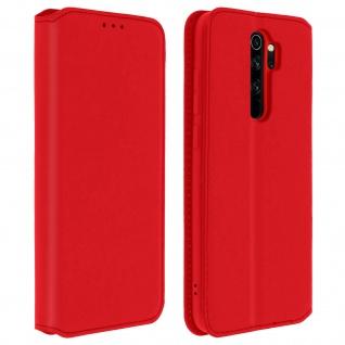 Kunstleder Cover Classic Edition Xiaomi Redmi Note 8 Pro - Rot