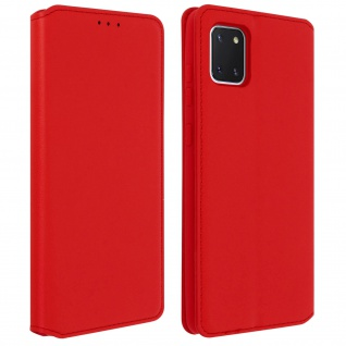 Kunstleder Cover Classic Edition Samsung Galaxy Note 10 Lite - Rot