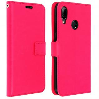 Flip Cover Stand Case Brieftasche & Standfunktion für Huawei P20 Lite - Rosa