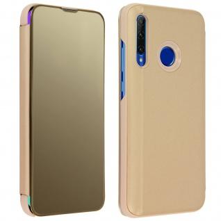 Honor 20 Lite Flip Cover mit Spiegeleffekt & Standfunktion � Gold