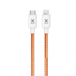 Kabel iPod iPad iPhone Ladeanschluss USB-C Geflochtenes Nylon 1 m Xtorm Orange