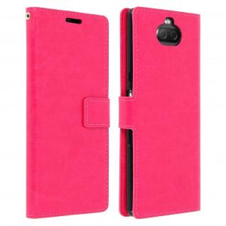 Flip Stand Cover Brieftasche & Standfunktion für Sony Xperia 10 - Rosa - Vorschau 1