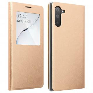 S-View Flip Cover mit Sichtfenster & Kartenfach für Galaxy Note 10 ? Gold