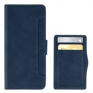 Realme 6i Klappetui mit Geldbörse + abnehmbares Kartenfach ? Blau