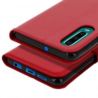 Flip Stand Cover Brieftasche & Standfunktion für Huawei P30 - Rot - Vorschau 5