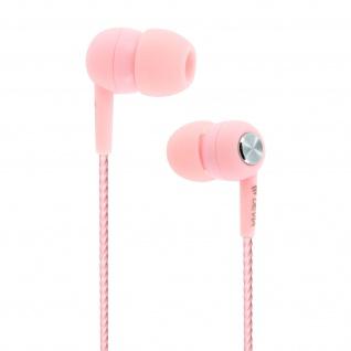 Devia in-ear Kopfhörer 3.5mm Klinkenstecker, Mikrofon & Fernbedienung - Rosa