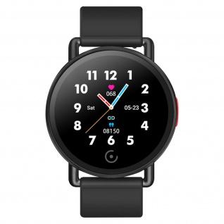 Lemonda G22 Smartwatch, Herzfrequenz / Benachrichtigungen / Sportmodus - Schwarz