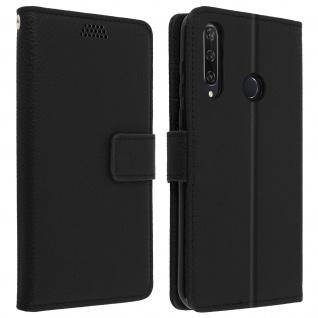 Huawei Y6p Flip-Cover mit Kartenfächern & Standfunktion - Schwarz