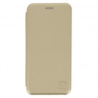 Samsung Galaxy S21 Kunstlederhülle mit Kartenfach & Standfunktion ? Gold