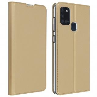 Klappetui mit Kartenfach & Standfunktion Samsung Galaxy A21s - Gold