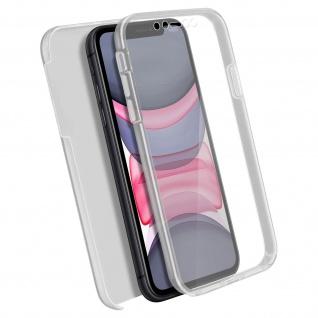 Schutzhülle für Apple iPhone 11, Vorder- + Rückseite ? Transparent