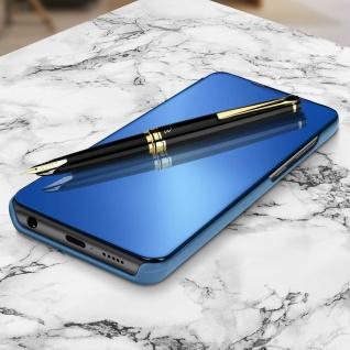 Mirror Klapphülle, Spiegelhülle für Samsung Galaxy A71 - Blau - Vorschau 2