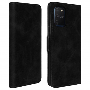 Klapphülle mit Kartenfächer / Standfunktion für Galaxy S10 Lite - Schwarz