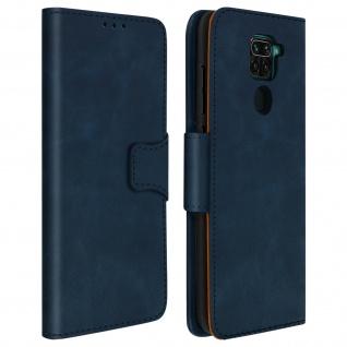 Flip Stand Case Brieftasche & Standfunktion für Xiaomi Redmi Note 9 - Blau