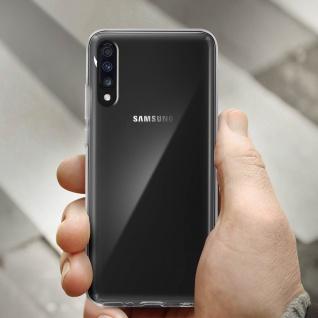 360° Protection Pack für Galaxy A70: Cover+ Displayschutzfolie, Transparent - Vorschau 4