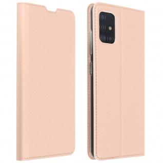 Klappetui mit Kartenfach & Standfunktion Samsung Galaxy A51 - Rosegold